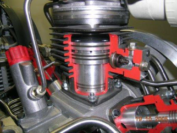 Bauer Compressor cutaway example specialy prepared by by technicians of the Bauer Company, Munich, Germany
