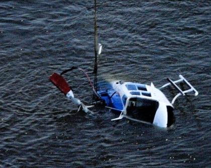 Helicopter Crash recovery. Source: New York daily news